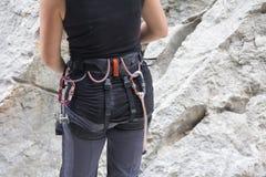Оборудование для скалолазания Стоковое фото RF