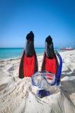 оборудование snorkeling Стоковые Изображения
