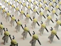 оборудует гуляя работников Стоковая Фотография