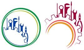 Оборудует логотип иллюстрация штока