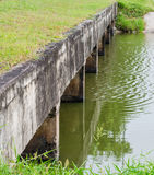 Обочина бетона дренажных каналов Стоковая Фотография RF