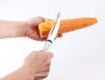Оболочка ножа плодоовощ, обстрагивает Стоковые Изображения RF
