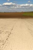Обрабатываемая земля, весна, ландшафт, вспахала поле, аграрное, поля Стоковые Фото