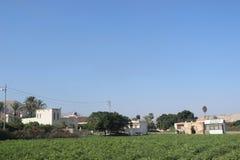 Обрабатываемая земля вне Иерихона, Палестины Стоковая Фотография RF