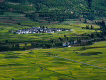 Обрабатываемая земля деревни Стоковая Фотография RF