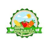 Обрабатывайте землю свежая, вектор логотипа еды фермы ярлыка натуральных продуктов бесплатная иллюстрация