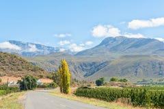 Обрабатывайте землю ландшафт с Swartberg в задней части около Hoeko Стоковое Фото