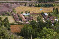 Обрабатывайте землю в реке Urubamba vally, Перу Стоковые Изображения