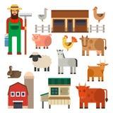 Обрабатывайте землю еда природы иллюстрации вектора значка жать характеры животных земледелия зерна различные бесплатная иллюстрация