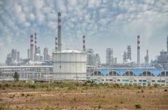 обрабатывать газа фабрики ландшафт с газовой промышленностью стоковые изображения
