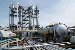 обрабатывать газовой промышленности стоковое фото