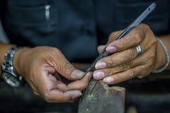 Обрабатывать драгоценных камней стоковое изображение rf