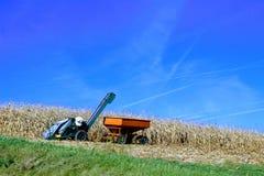 Обрабатывать землю и голубые небеса Стоковые Фото