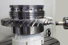 Обрабатывать колеса турбины стоковое фото