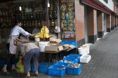 Обрабатывать магазина морепродуктов Стоковые Фото