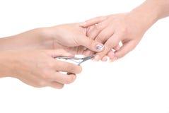 обрабатывать manicure стоковое фото rf