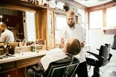 Обработка бороды и усика волос Стоковая Фотография RF