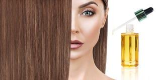 Обработка волос терапией масла в спирали Стоковые Изображения