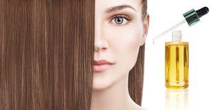 Обработка волос терапией масла в спирали Стоковая Фотография RF