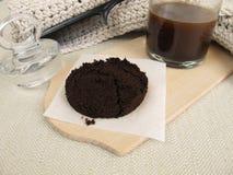 Обработка волос с кофе и кофеином Стоковое Изображение RF