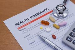 Обработка документов медицинской страховки, медицина, Стоковое Фото