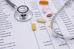 Обработка документов медицинской страховки, медицина, Стоковое фото RF