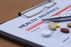 Обработка документов медицинской страховки, медицина Стоковые Изображения