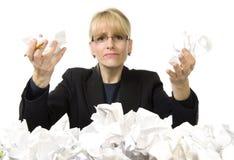 Обработка документов, обработка документов идет прочь! Стоковое Изображение RF