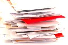 обработка документов офиса стоковое фото