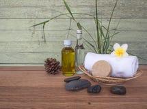 Обработка и мыло курорта с полотенцем Стоковое Изображение