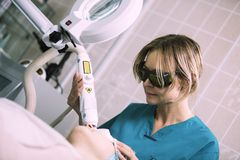 Обработка кожи лазера Стоковые Изображения RF