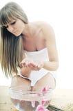 Обработка красотки спы руки Стоковые Изображения