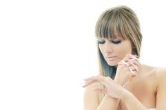 Обработка красотки спы руки Стоковые Изображения RF