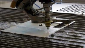 Обработка металла с водой Гидро истирательное вырезывание видеоматериал
