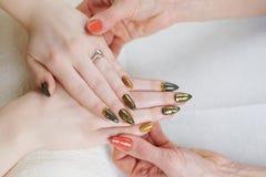 Обработка ногтя Стоковые Фото