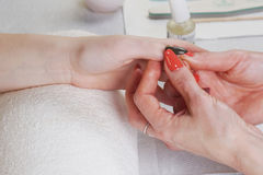 Обработка ногтя Стоковое фото RF