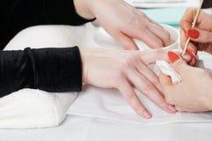 Обработка ногтя Стоковые Изображения