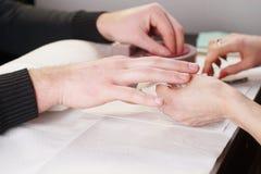 Обработка ногтя Стоковое Фото
