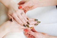 Обработка ногтя Стоковая Фотография RF