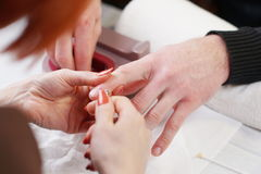 Обработка ногтя Стоковые Фотографии RF