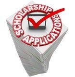 Обработка документов Sta финансовой поддержки коллежа применений стипендии иллюстрация вектора