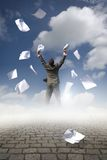 обработка документов бизнесмена Стоковое фото RF