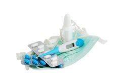 обработки гриппа установленные Стоковые Фотографии RF