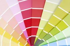 Образец гида диаграммы цвета Стоковое Изображение
