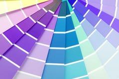 Образец гида диаграммы цвета Стоковые Фотографии RF