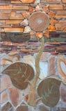 Образец загородки выставки от декоративных бетонных плит Стоковое Изображение RF