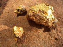 Образец золота Стоковое Изображение