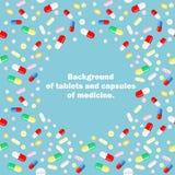 Образец капсул и таблеток с местом для вашего текста внутрь Стоковое Фото