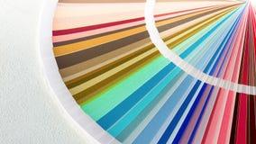 Образец красит каталог Направляющий выступ палитры цвета Стоковые Изображения RF