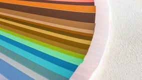 Образец красит каталог Направляющий выступ палитры цвета Стоковое Фото